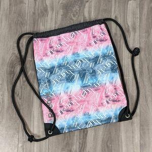 Reebok Drawstring Backpack Bag Black Pink
